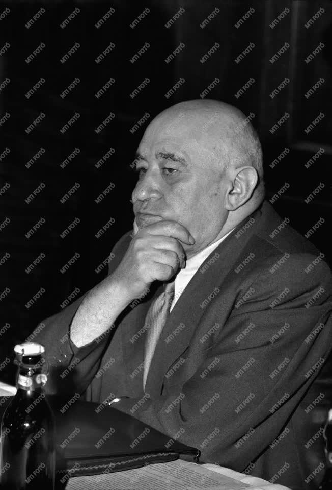 Belpolitika - Rákosi Mátyás a Hazafias Népfront ülésén