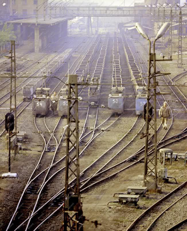 Bányászat - A Kossuth-bánya pályaudvara