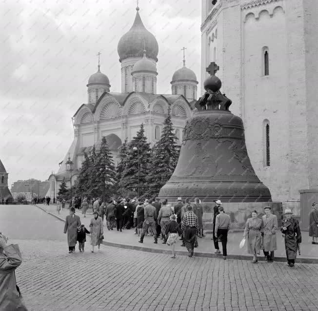 Városkép - Moszkva - Cár-harang és az Arhangelszkij-székesegyház