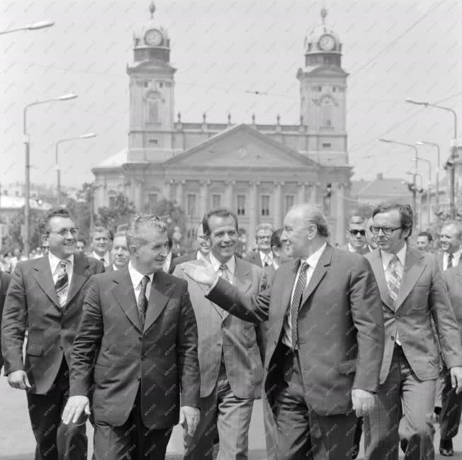 Külkapcsolat - Kádár János és Nicolae Ceausescu Debrecenben