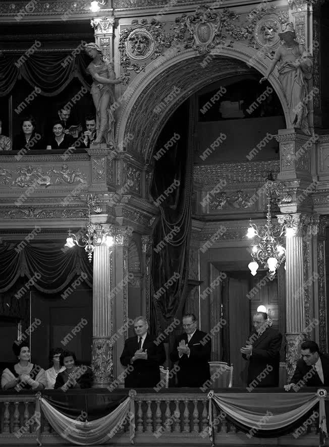 J. B. Tito, a jugoszláv köztársaság elnöke, Budapesten