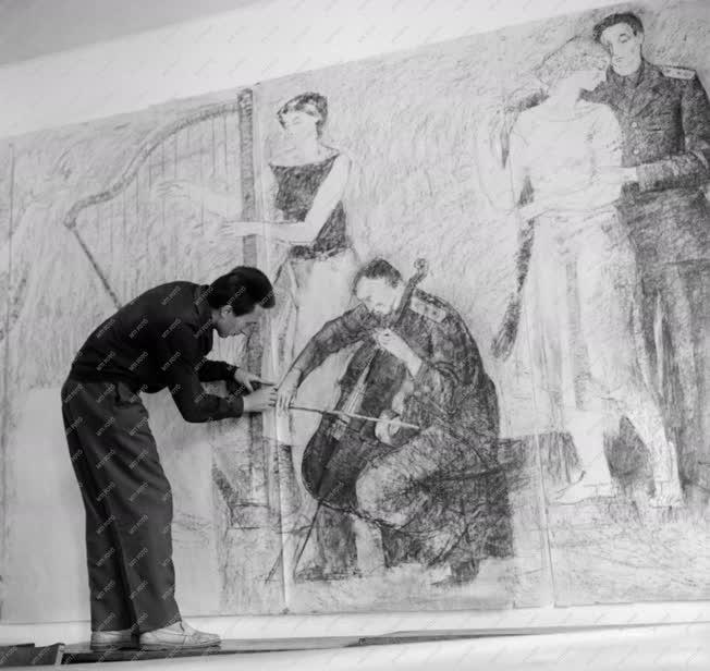 Művészet - Falfreskó a Honvéd-kórháznak