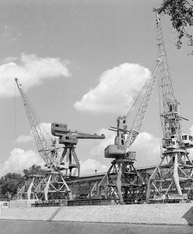 Ipar - Nehézipar - Szerelés alatt álló portáldaruk