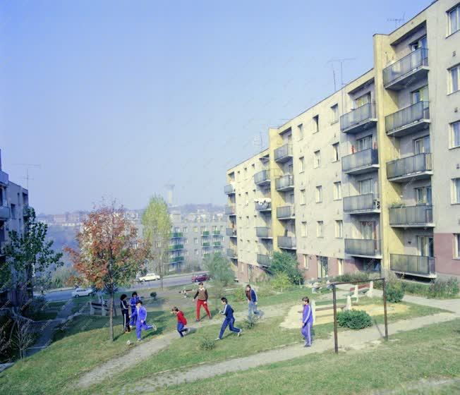 Városkép - Komlói életkép