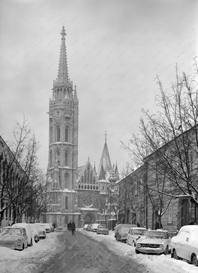 Városkép - Tél a Várban