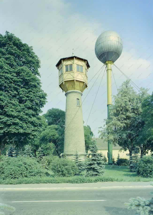 Városkép - Bábolna - Régi víztorony és hidroglóbusz
