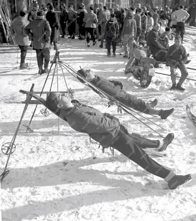 Téli sportok - Budapesti pillanatképek