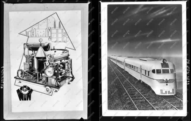 Ipar - Plakát, vonat