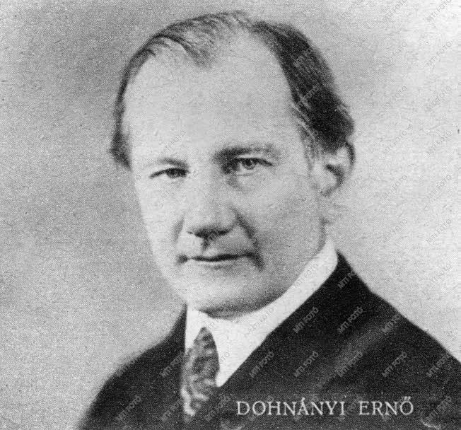 Dohnányi Ernő zongoraművész, zeneszerző