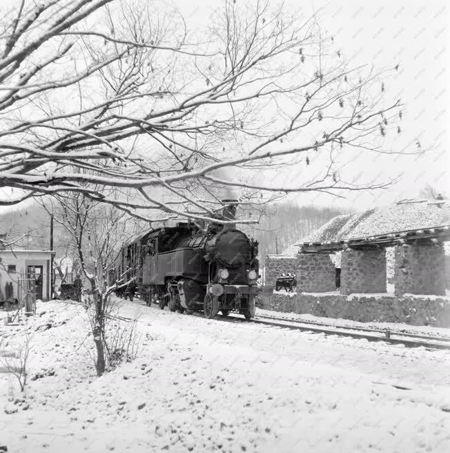 Közlekedés - Vasút - Téli képek a Bükkben