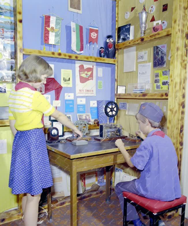 Szervezet - Az Úttörővasút házi múzeumában