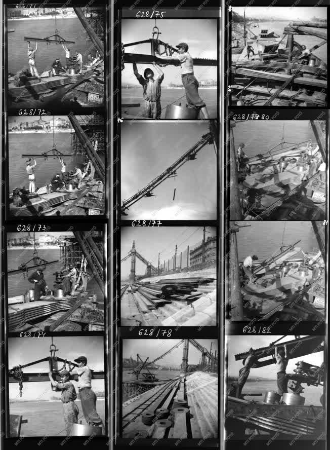Építkezés - Háború - Lerombolt Erzsébet híd