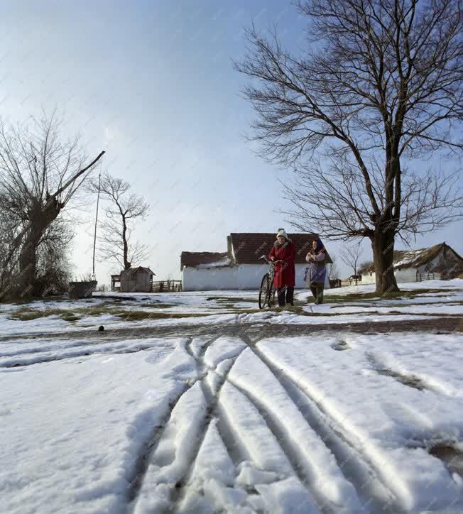 Életkép - Téli tanyavilág
