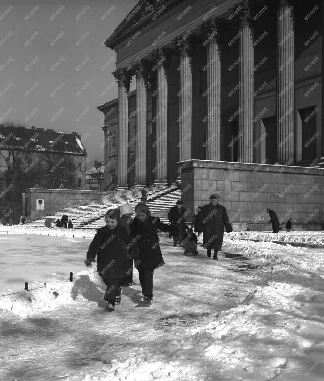 Szórakozás - A Múzeumkert télen