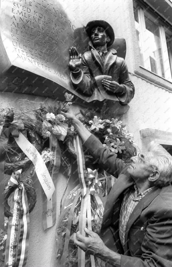 Kultúra - Raoul Wallenberg domborművének avatása