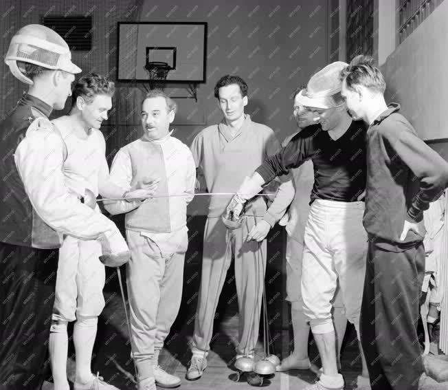 Sport - Vívó válogatott edzése