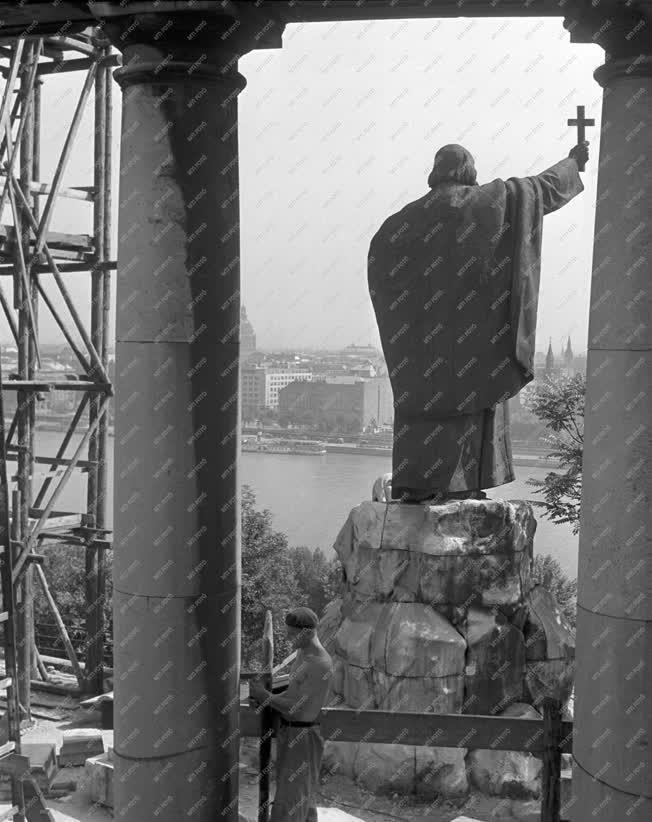 Szobrászat - A Gellért-szobor felújítása