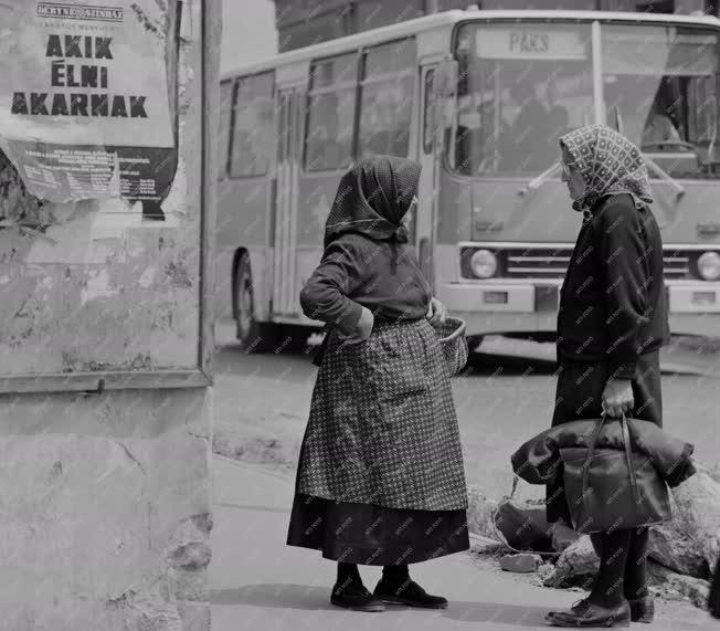 Városkép-életkép - Beszélgető asszonyok Pakson