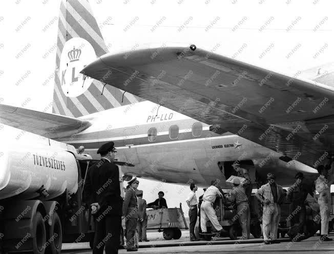 Az első KLM járat Ferihegyen