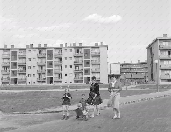 Városkép - Építőipar - Új lakások a csepeli Csillagtelepen