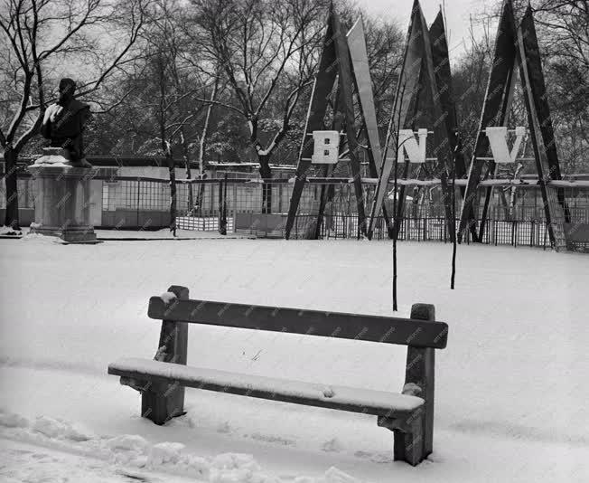 Tél - A Városliget télen
