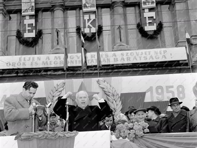 Külkapcsolat - A szovjet párt- és kormányküldöttség Szolnokon