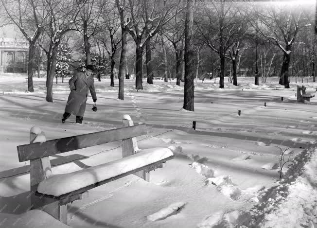 Életkép - Időjárás - A Városliget télen