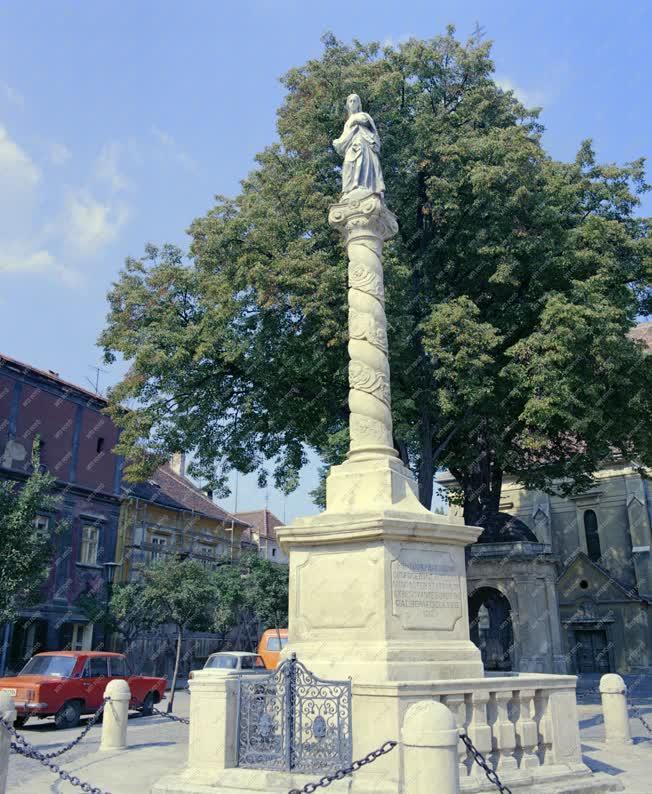 Városkép - A kőszegi Mária-szobor