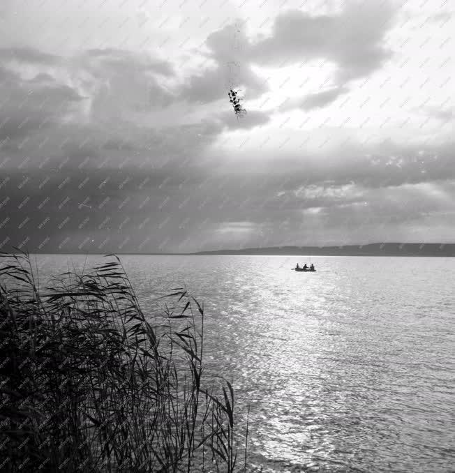 Környzet  - Horgászok a Balatonon