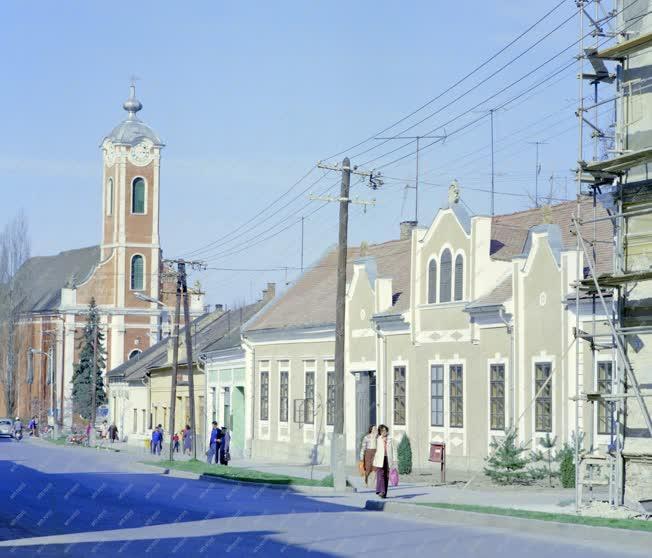 Városkép - Bonyhádi utcarészlet