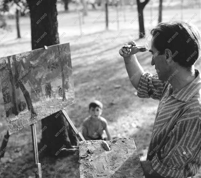 Kultúra - Egy festőművész a parkban