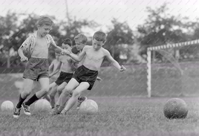 Sport  - Focizó gyerekek az edzőtáborban