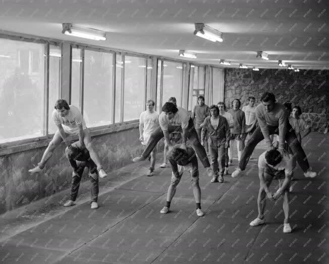 Sport - Csepeli labdarúgók a Tatai edzőtáborban