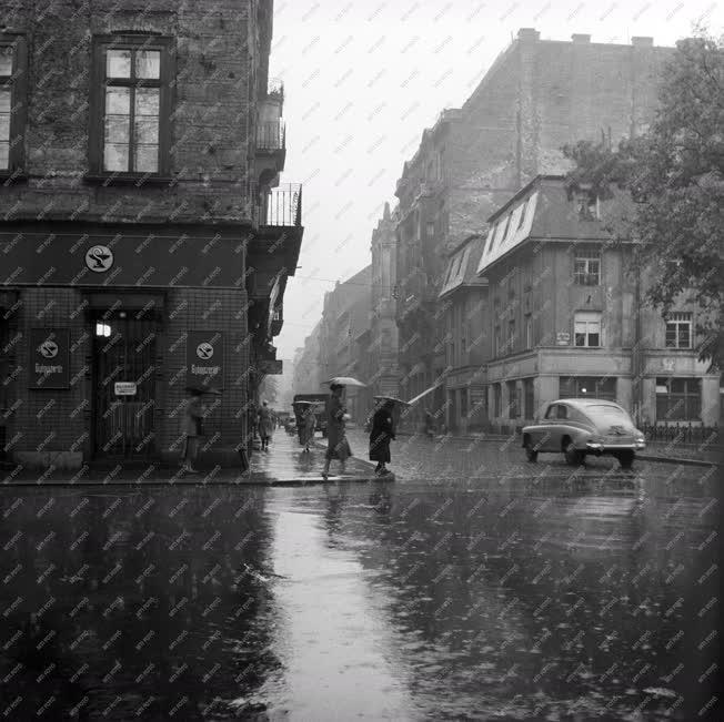 Időjárás - Esős Budapest