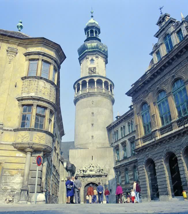 Városkép - A soproni tűztorony