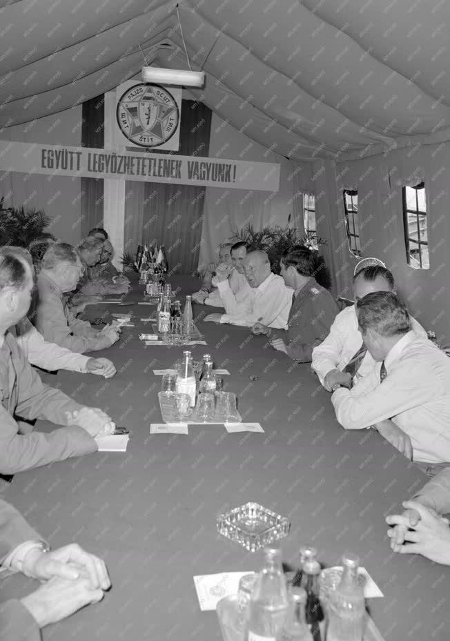 Belpolitika - Kádár János a Pajzs '79 hadgyakorlaton