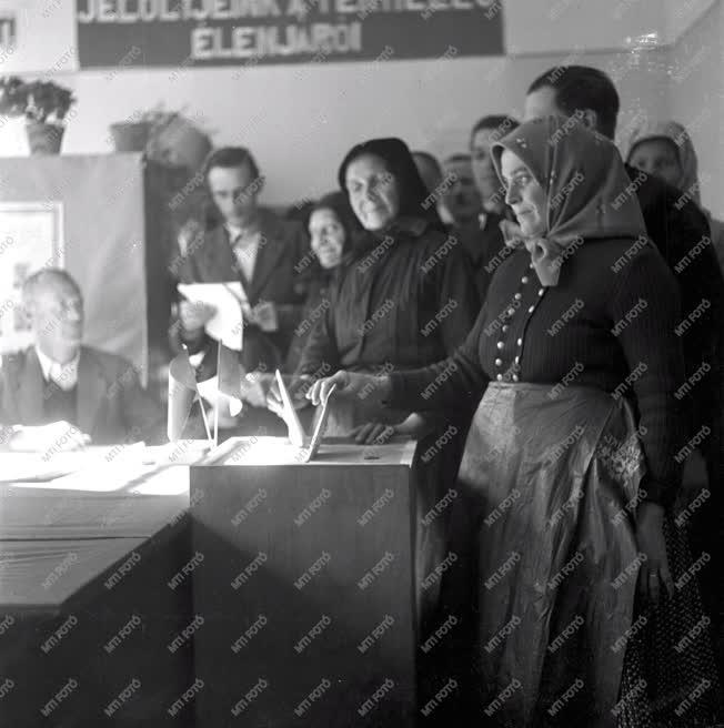 Belpolitika - Tanácsválasztás 1950-ben