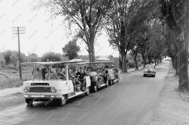 Idegenforgalom - Mikrobusszal a Balaton partján