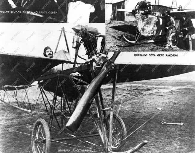 Sport - Repülés - Adorján-Dedics repülőgépmotorral épített gép