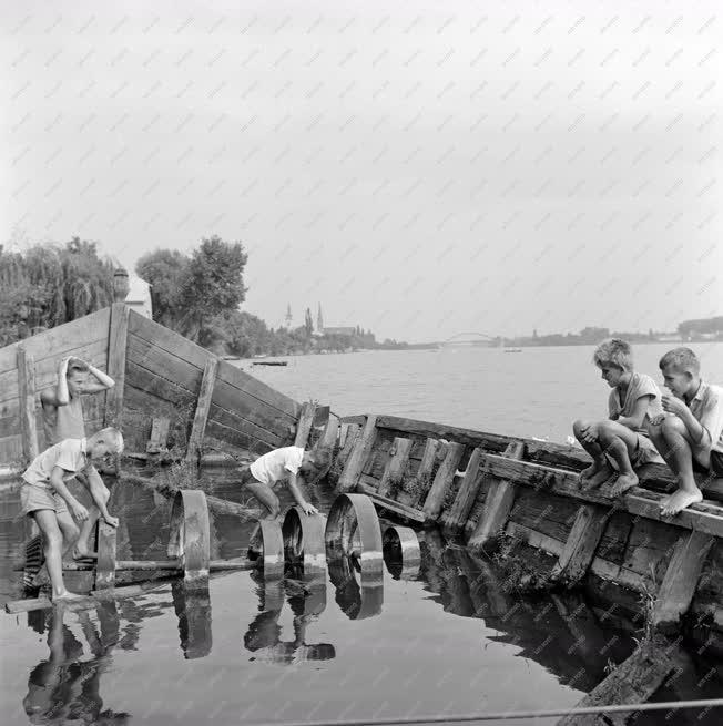 Műemlék - Hajómalom a ráckevei Duna-ágban