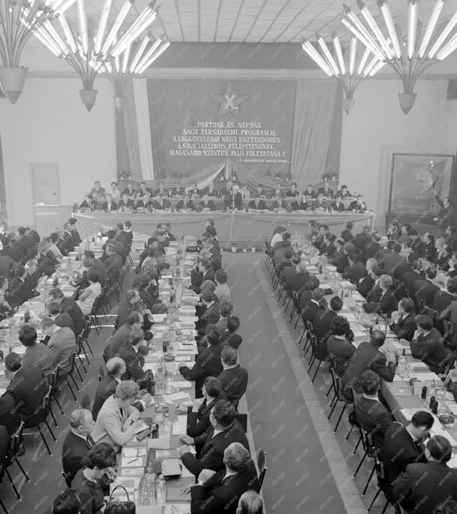 Belpolitika - Ipar - Pártértekezlet a Csepel Vas- és Fémművekben