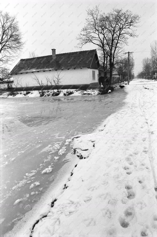 Hortobágy - Téli utcakép
