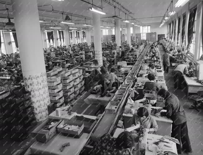 Ipar - Feldolgozóipar - A Tisza Cipőgyárban