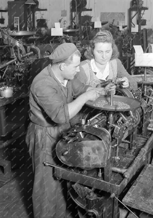 Ipar - Élmunkás dolgozók a Facsavargyárban