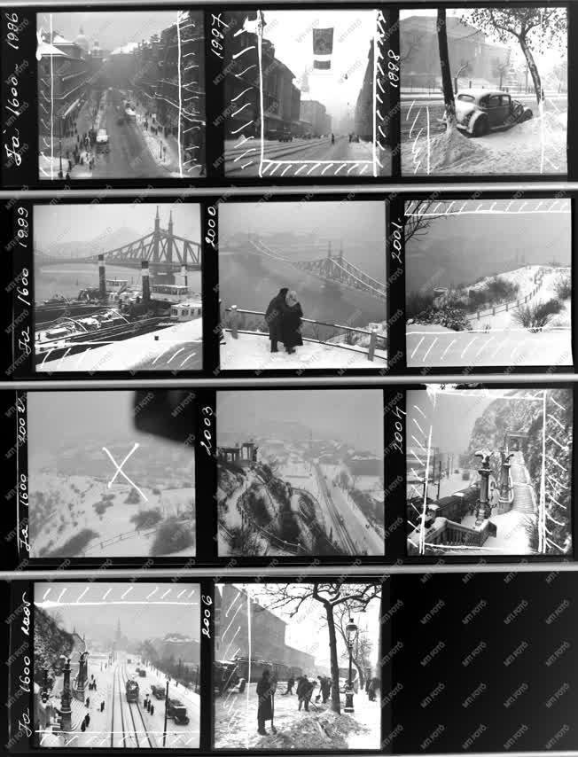 Városkép-életkép - Budapest Album - Téli képek
