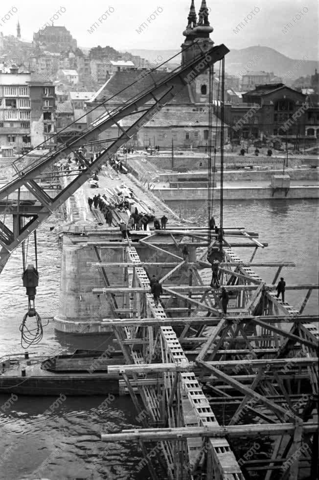 Építőipar - Kossuth híd építése