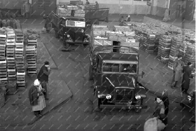Kereskedelem - Áruszállítás a budapesti Nagyvásártelepről