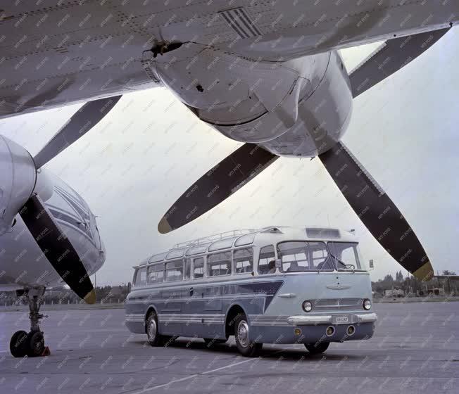 Közlekedés - Ikarus 55 autóbusz a MALÉV-nak