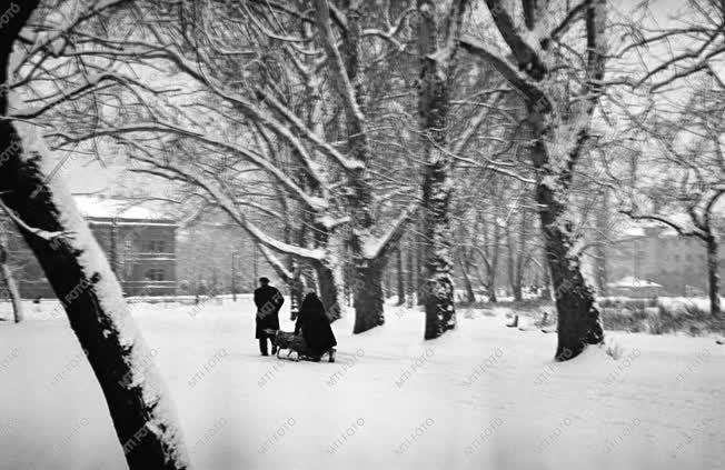 Városkép - Életkép - Termézet - Tél Budapesten