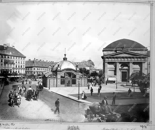 Városkép - A Deák tér az 1900-as években